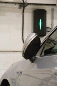 Elektroauto Wallbox in Betrieb